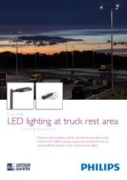 LED lighting at truck rest area - Leipziger Leuchten