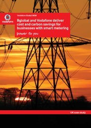 Bglobal and Vodafone deliver cost and carbon savings ... - Vodacom