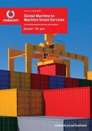 Global M2M Services brochure - Vodacom
