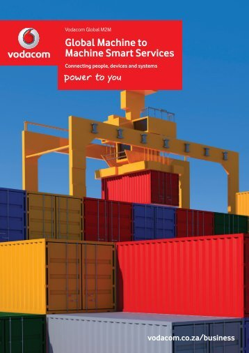 Global M2M Services brochure - Vodacom