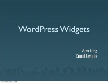 WordPress Widgets - Widget Summit