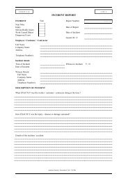 incident report form - Jacksons Security