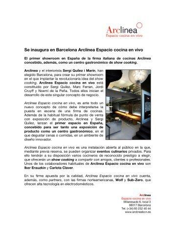 Se inaugura en Barcelona Arclinea Espacio cocina en vivo - Cítric