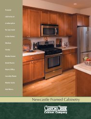 View Newcastle Flyer (PDF 1.1M) - Canyon Creek Cabinet Company
