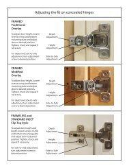 Adjusting the fit on concealed hinges