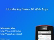 Introducing Series 40 Web Apps