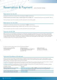 Reservation & Payment Junior Summer Camps - Sprachenmarkt.de