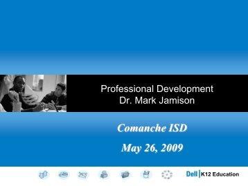 Pearson's Professional Development Plan - Comanche ISD