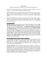 """Board Beat"" - Florida State Massage Therapy Association"