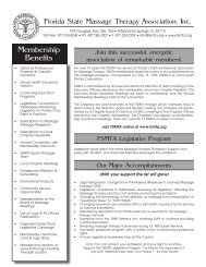 printed Application - Florida State Massage Therapy Association