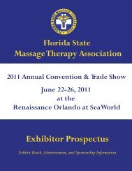 Exhibitor Prospectus - Florida State Massage Therapy Association