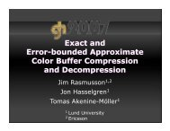 Why color buffer compression? - Graphics Hardware