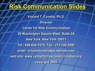Risk Communication Slides - Northwest Center for Public Health ...