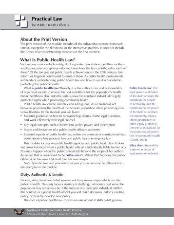 Print version - Northwest Center for Public Health Practice