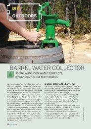 BARREL WATER COLLECTOR - Make