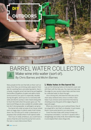 BARREL WATER COLLECTOR - Make