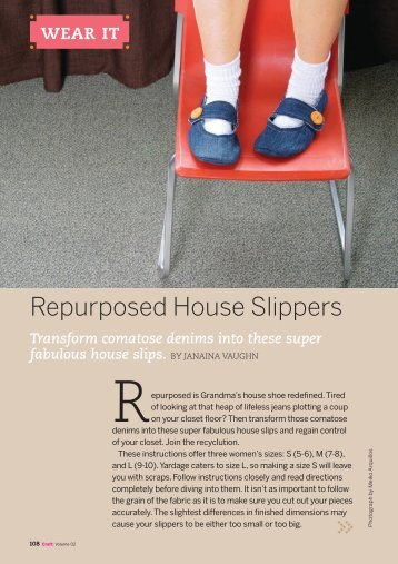 CRAFT 02 Sample: Repurposed House Slippers - Make