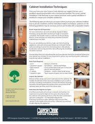 Installation Guidelines - Canyon Creek Cabinet Company