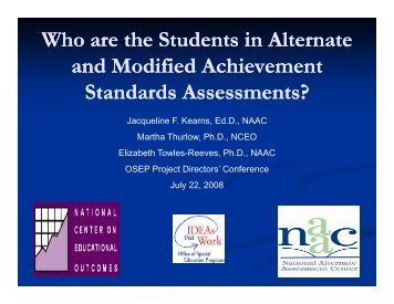 Who are the Students in Alternate and Modified ... - NAAC