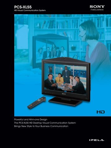 SONY PCS-XL55 HD Desktop Visual Communication System