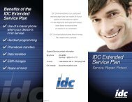 IDC Extended Service Plan - IDC Communications