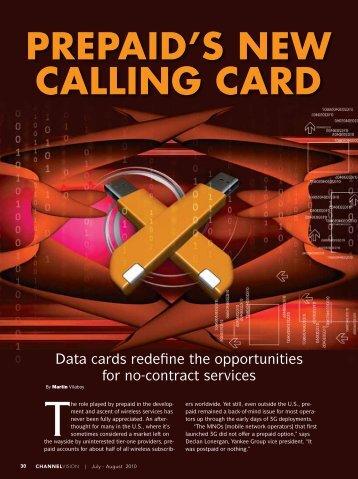 PREPAID'S NEW CALLING CARD