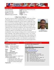 Student Profile Kelly Mezzanatto E-mail: dm.neverhome@verizon ...