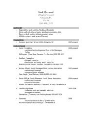 Mark's Master Resume - Scouting Solutions Trainer