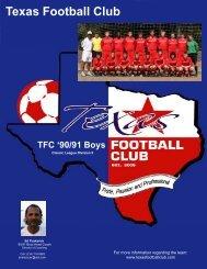 Texas Football Club TFC '90/91 Boys - Scouting Solutions Trainer
