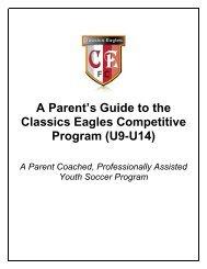 A Parent's Guide to the Classics Eagles Competitive Program (U9 ...