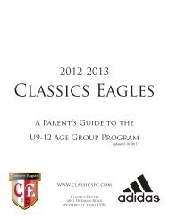 Classics Eagles - Scouting Solutions Trainer