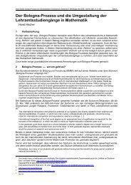 Der Bologna-Prozess und die Umgestaltung der ... - Horst Hischer