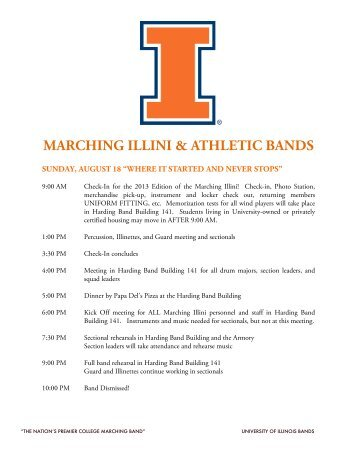 marching illini & athletic bands