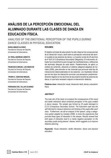 Leo, F.; Sánchez, P.; Del Villar. F. - Análisis Didáctico y ...