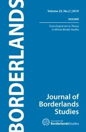 Volume 25, No.2 - Association for Border Studies