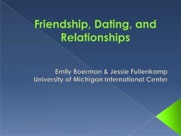 Relationships in the U.S. - International Center