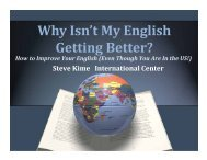 Why Isn't My English Getting Better? - International Center