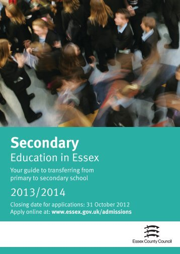 Secondary booklet 2013 - Essex County Council