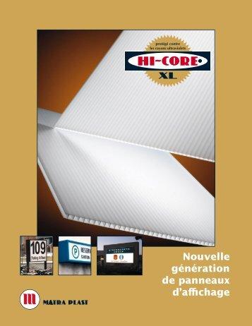 Nouvelle génération de panneaux d'affichage - Matra Plast ...