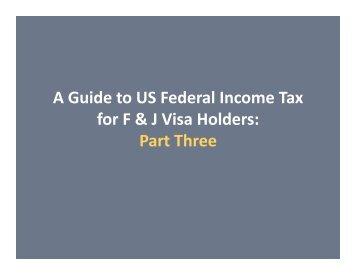 Guide to U.S. Federal Income Tax-Part 3 presentation - International ...