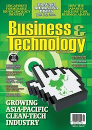 GrOwiNG asia-PaCiFiC CLEaN-tECh iNDUstry