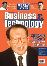 ChunG's leGaCy - Asia-Pacific Business and Technology Report