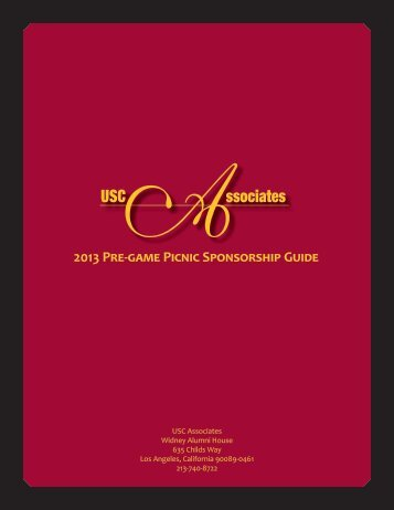 Download the 2013 Associates Sponsorship Guide - University of ...