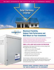 Solar harmony inverter - GeoSmart Energy
