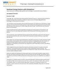 GeoSmart and ClimateCare Partnership