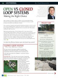 Open vs Closed Loop Systems - Mechanical ... - GeoSmart Energy