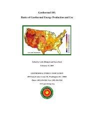 Geothermal Energy Association - GeoSmart Energy