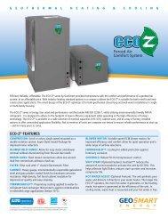 ECO-Z Brochure - GeoSmart Energy
