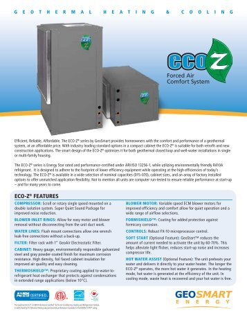 ECO-Z Brochure - GeoSmart Energy