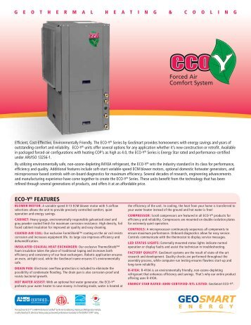 ECO-Y Brochure - GeoSmart Energy